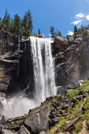 water fall: Vernal Fall in Yosemite National Park, California, USA.