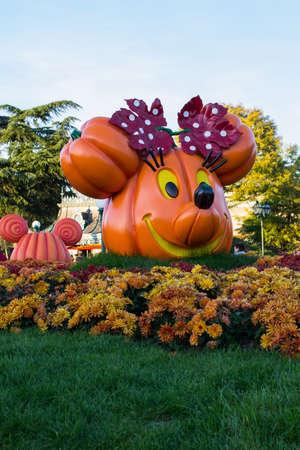 minnie mouse: Disneyland Paris during Halloween Celebrations