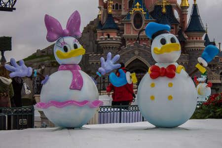 minnie mouse: Disneyland Paris during Christmas Celebrations Editorial