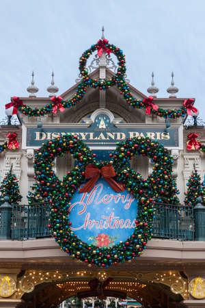 Disneyland Paris during Christmas Celebrations Editoriali