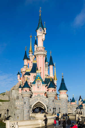 paris france: Disneyland Paris Castle, Paris, France