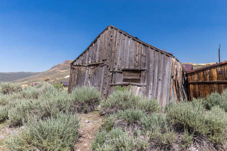 old time: Bodie Ghost Town in California, USA.
