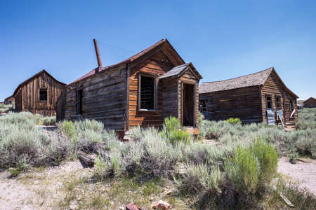 ghost town: Bodie Ghost Town in California, USA.