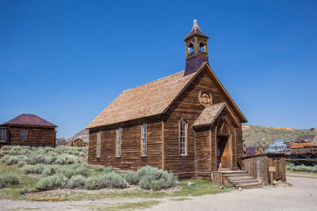 pobreza: Pueblo fantasma de Bodie en California, EE.UU..