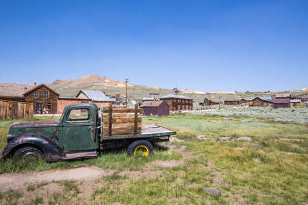 old car: Bodie Ghost Town in California, USA.