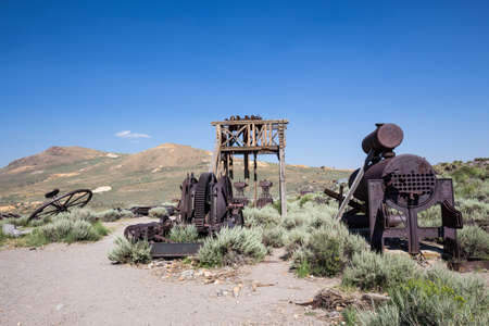 west: Bodie Ghost Town in California, USA.