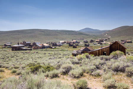 gold rush: Bodie Ghost Town in California, USA.