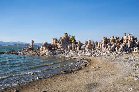 Mono Lake with tufa rock in Mono County, California, USA