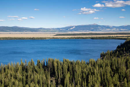 jenny: Jenny Lake at Grand Teton National Park, Wyoming, USA Stock Photo