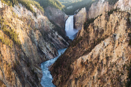 united states: Lower Falls on the Grand Canyon of the Yellowstone, Yellowstone National Park, USA