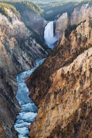 lower yellowstone falls: Lower Falls on the Grand Canyon of the Yellowstone, Yellowstone National Park, USA