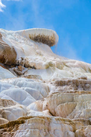 calcium carbonate: Mammoth Hot Spings in Yellowstone National Park, Wyoming, USA