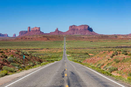 tribal park: Road to the Monument Valley, Utah, USA