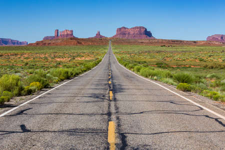 united states: Road to the Monument Valley, Utah, USA