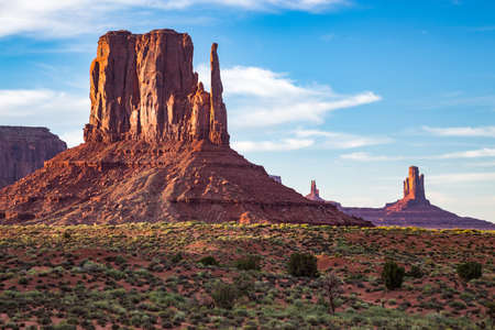 valley view: View of the Monument Valley at dusk Stock Photo