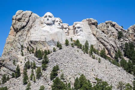 abraham: Mount Rushmore National Memorial, South Dakota, USA. Editorial