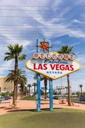 LAS VEGAS, NV - 12 agosto: Benvenuti a segno di Las Vegas il 12 agosto 2015 a Las Vegas, Stati Uniti d'America. Las Vegas è una delle principali destinazioni turistiche in tutto il mondo.