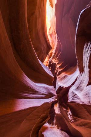 page arizona: Antelope Canyon in the Navajo Reservation near Page, Arizona, USA.