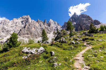 san: View of Pale di San Martino, Italian Dolomites in Trentino