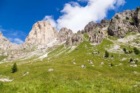 View of the Roda di Vael (Rosengarten group) in the Italian Dolomites Reklamní fotografie