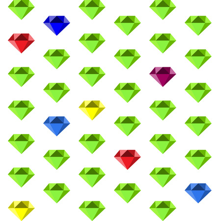 A pattern with multi-colored diamonds.
