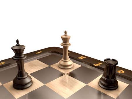 chessboard: 3D model of chessboard