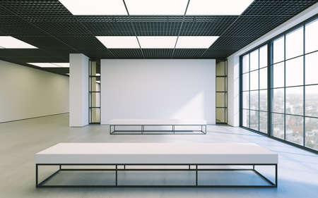 Moderne minimalistische begehbaren kleiderschrank mit weißen