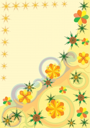 vekrornaya blank for cards or other printed materials in the form of flower arrangements or wallpaper Vector