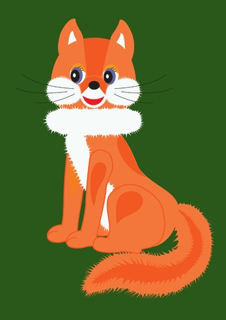 vector drawing of childrens soft toys red fox
