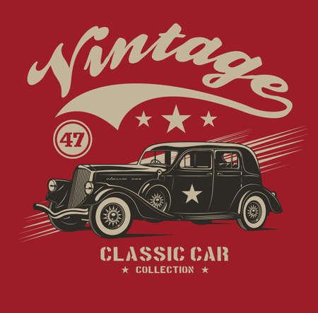 a classic: retro cars