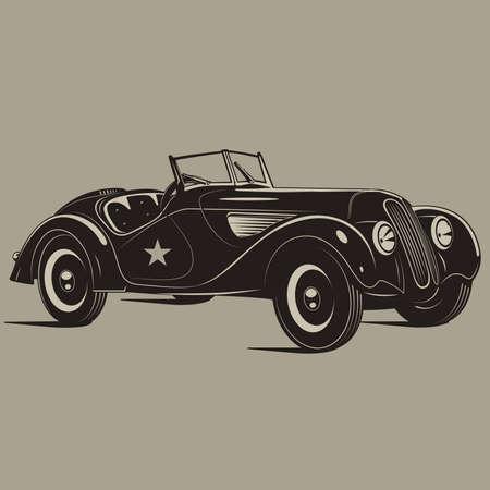 racing background: retro cars