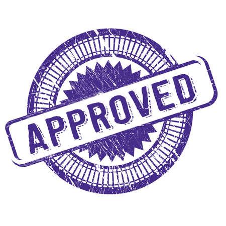 Approved stamp - Illustration Illustration