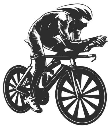 racing bicycle: Cycling Illustration