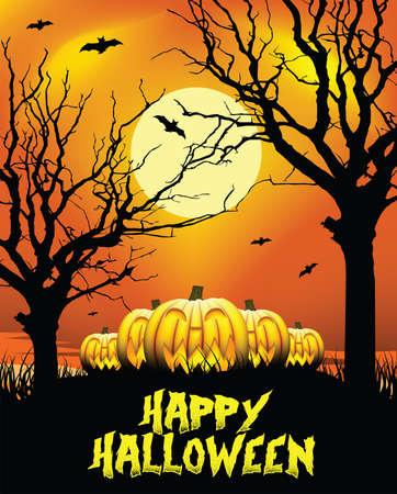 phenomenon: Halloween Pumpkins - Moonlight - Illustration
