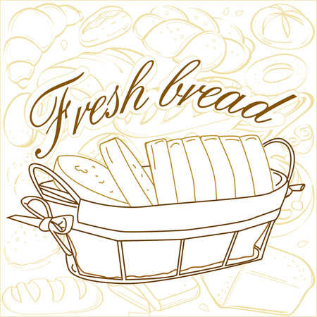 ruddy: Rosy slices of fresh organic bread in a small basket
