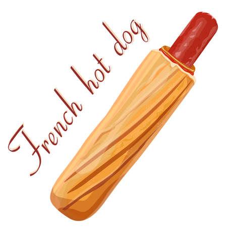 banger: Hot dog Illustration