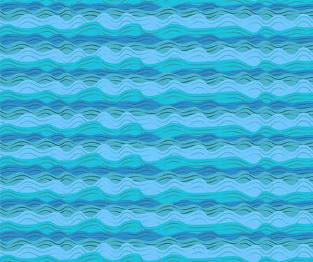 view wallpaper: Water sea ocean aqua waves wave blue pattern seamless calm tide roller wash texture wallpaper paper background design. Vector horizontal closeup beautiful side view black outline simple illustration
