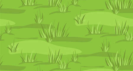 grounds: Meadow grassland sky field grass mead grassplot green background seamless texture backdrop pattern vector beautiful closeup side view horizontal nature clean landscape illustration ground context fond