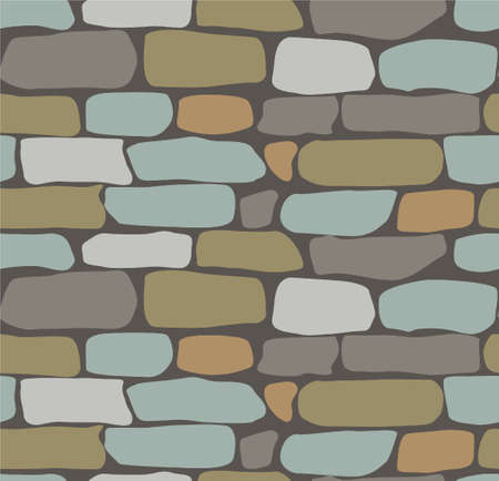 floor covering: Paving tile floor covering pavement slabs brick wall stone old vintage.
