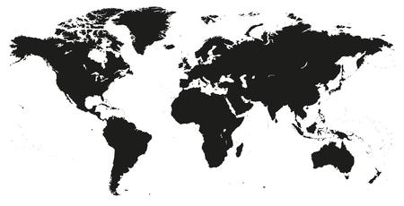 Vector blank dark grey black similar world map isolated on white vector vector blank dark grey black similar world map isolated on white background monochrome worldmap template website design cover annual reports gumiabroncs Gallery
