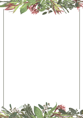 Vector set of wedding invitations. On a white gray background with gold lines, stripes, guides. In a decorative vertical frame. Template constructor cards