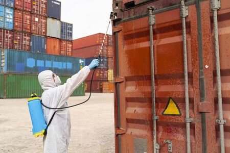 Disinfecting of storage container to prevent COVID-19