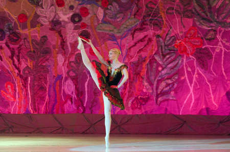 dnipro: DNIPRO, UKRAINE - JUNE 26, 2016: Julia Zakharenko performs This eternal ballet tale at State Opera and Ballet Theatre.