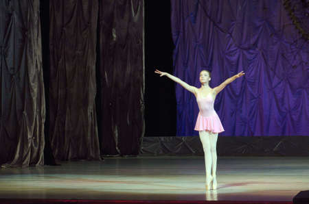 alexandra: DNIPRO, UKRAINE - JUNE 26, 2016: Alexandra Berezkin, age 15 years old, performs This eternal ballet tale at State Opera and Ballet Theatre.