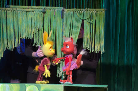 customary: DNIPROPETROVSK, UKRAINE - MAY 8, 2016: Braveheartperformed by members of the Dnipropetrovsk Puppet Theatre.