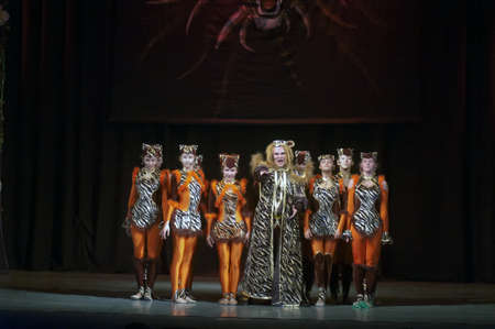 18 years old: DNEPROPETROVSK, UKRAINE - FEBRUARY 18: Unidentified children, ages 14-15 years old, perform musical spectacle Mowgli on February 18, 2013 in Dnepropetrovsk, Ukraine Editorial