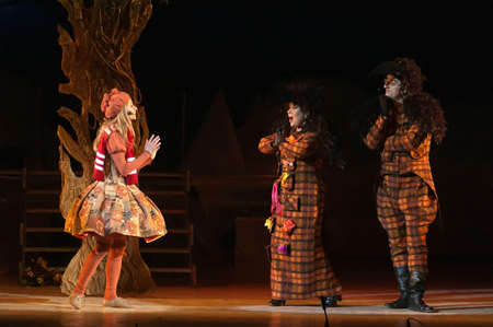 december 21: DNEPROPETROVSK, UKRAINE - DECEMBER 21: Members of the Dnepropetrovsk State Opera and Ballet Theatre perform �The Snow Queen� on December 21, 2012 in Dnepropetrovsk, Ukraine Editorial