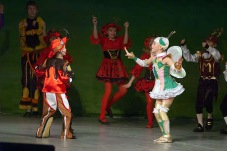 dreamland: DNIPROPETROVSK, UKRAINE - APRIL 13: Unidentified children, ages 8-14 years old, perform DREAMLAND on April 13, 2008 in Dnipropetrovsk, Ukraine Editorial