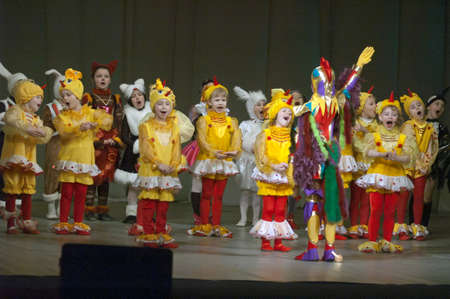 dreamland: DNIPROPETROVSK, UKRAINE - APRIL 9: Unidentified children, ages 8-14 years old, perform DREAMLAND on April 9, 2006 in Dnipropetrovsk, Ukraine Editorial