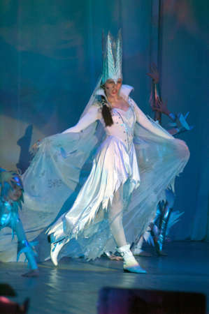parable: DNIPROPETROVSK, UKRAINE - APRIL 13: Unidentified children, ages 10-14 years old, perform THE SNOW QUEEN on April 13, 2008 in Dnipropetrovsk, Ukraine